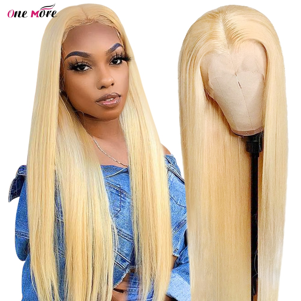 28 30 Inch 613 Blonde Lace Front Wig Human Hair 13x4 Bone Straight Lace Front Wig Transparent Lace Wigs Glueless Remy Blonde Wig