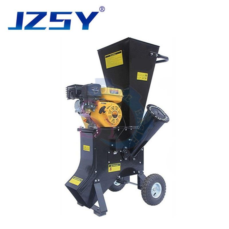 سعر الجملة 6.5 hp البنزين حديقة التقطيع شجرة فروع آلة سحق/13HP الرأسي آلة تكسير الخشب البستنة أداة