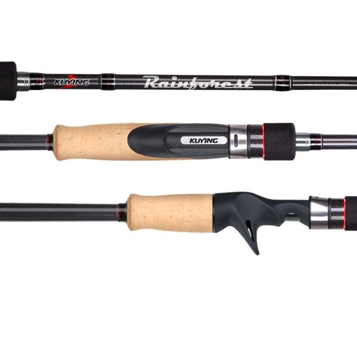 2.28m 2.4m 2.55m Japanese Carbon Spinning Casting Fishing Rod Lure Fish Pole Medium Fast Action Hard Soft