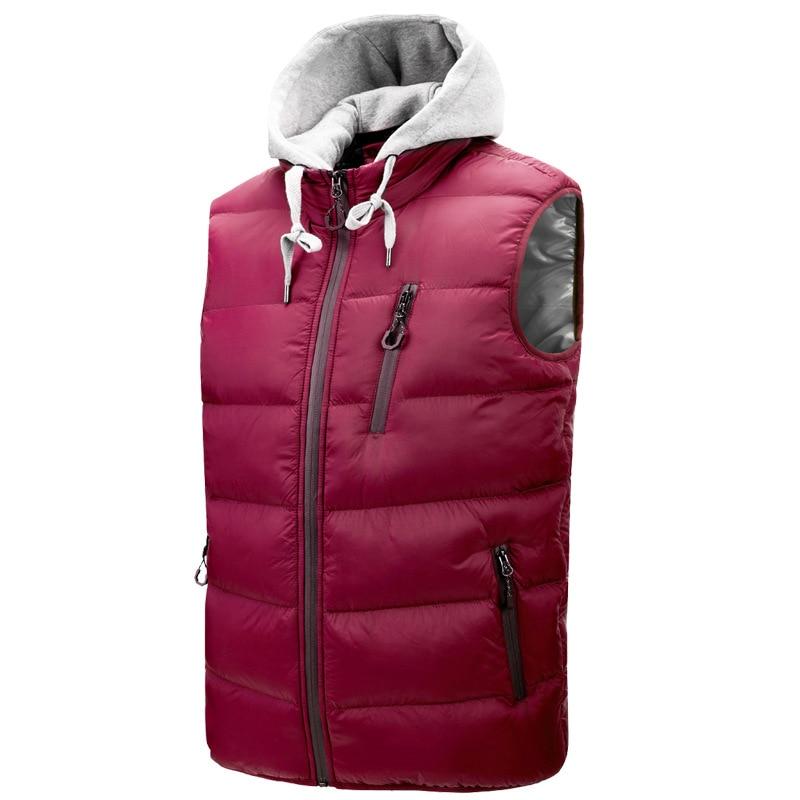 Мужской жилет, хлопковая куртка, трикотажная шапка на молнии, со съемным воротником-стойкой, мужская зимняя куртка, повседневная мужская од...