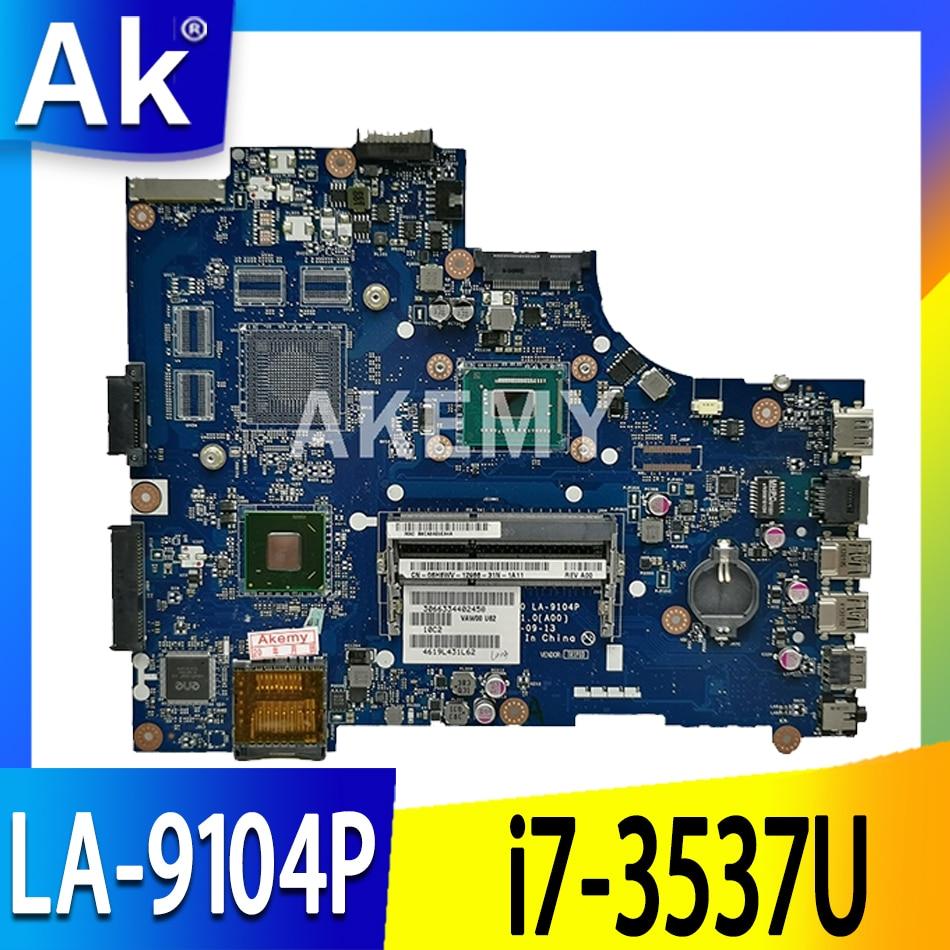 LA-9104P لجهاز DELL Inspiron 15 3521 5521 اللوحة الأم للكمبيوتر المحمول LA-9104P i7-3537U الاختبار الأصلي 100٪ العمل
