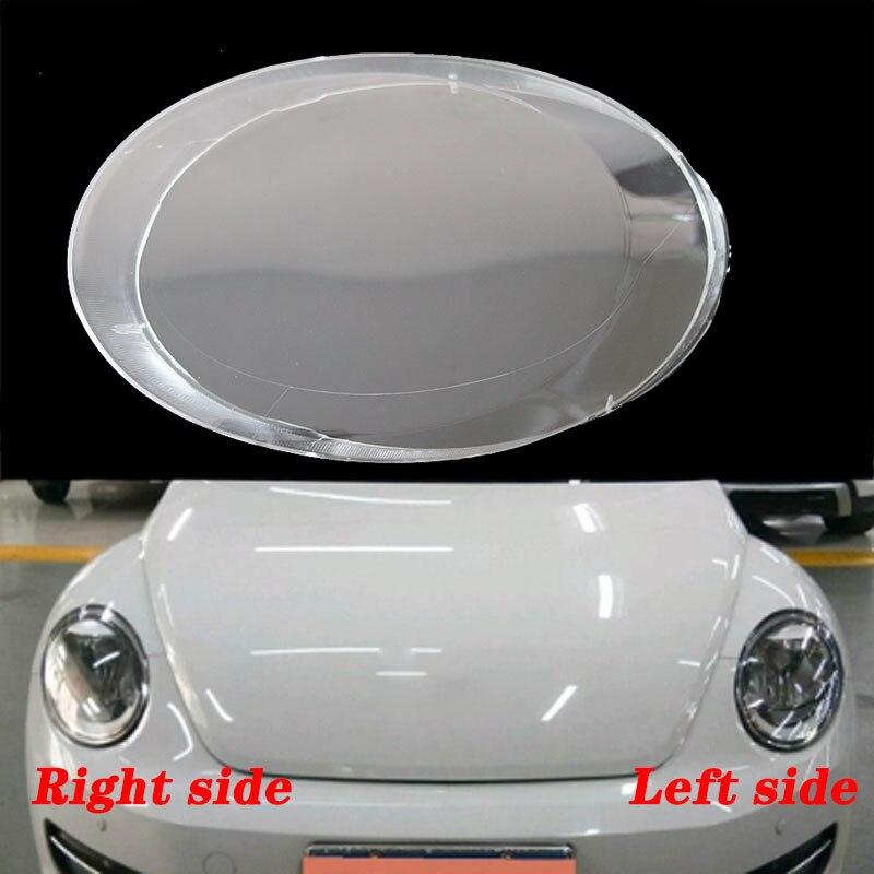 Para VW Beetle 2013-2019, faros delanteros, pantallas de lámpara transparentes, máscaras, faros, cubiertas, lentes, faros de cristal