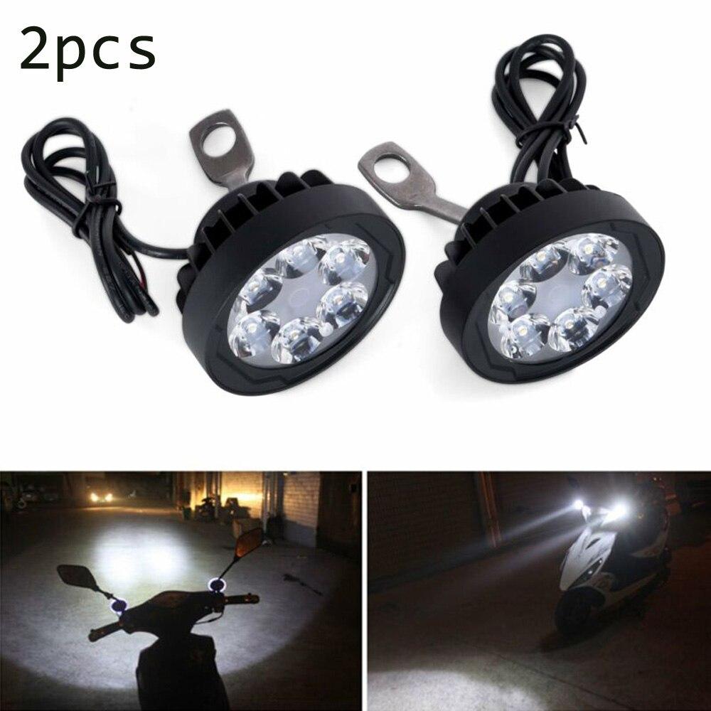 2pcs Set Motorcycle Headlight Fog Driving Lights Front Head Lamp 9 LED 12V-85V
