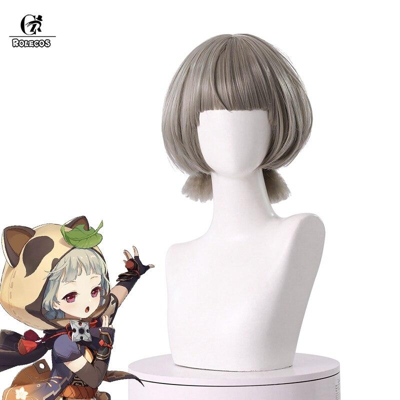 Парик для косплея ROLECOS Genshin Impact Sayu, парик для игры Genshin Sayu, термостойкие синтетические парики для косплея, короткие волосы