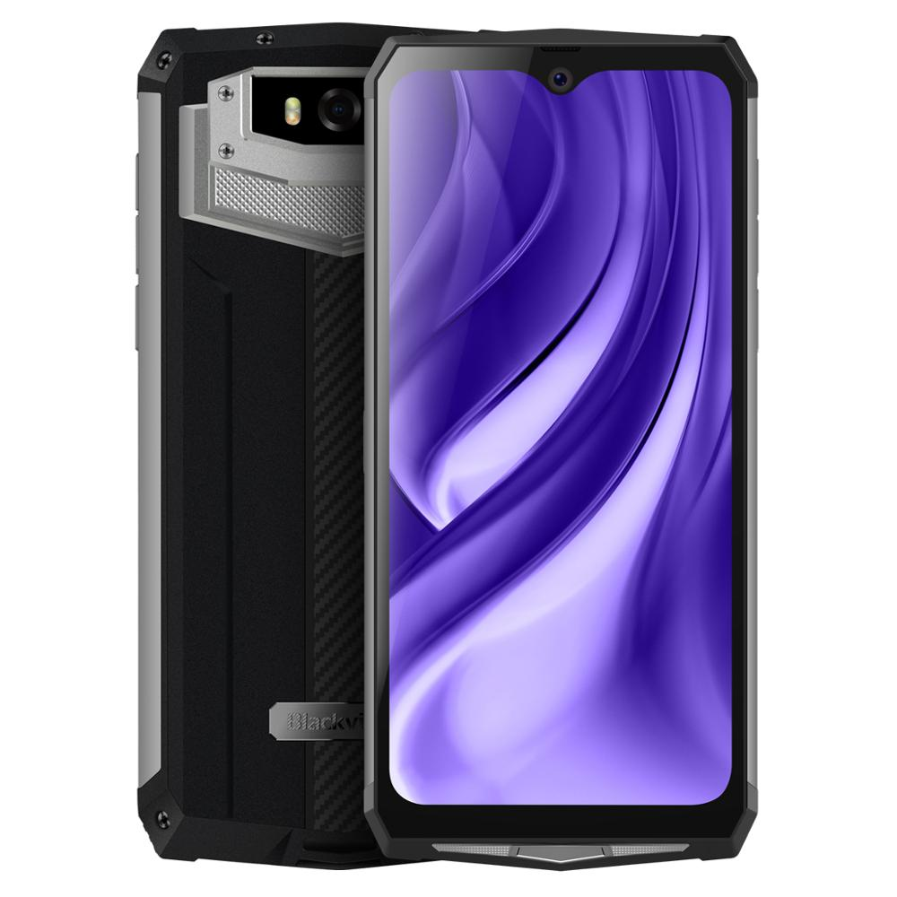 "Blackview a BV9100 IP68 smartphone resistente al agua 4GB + 64GB 6,3 ""MT6765V Octa Core 2,3 GHz 16MP Android 9,0 carga rápida NFC 13000mAh 30W"