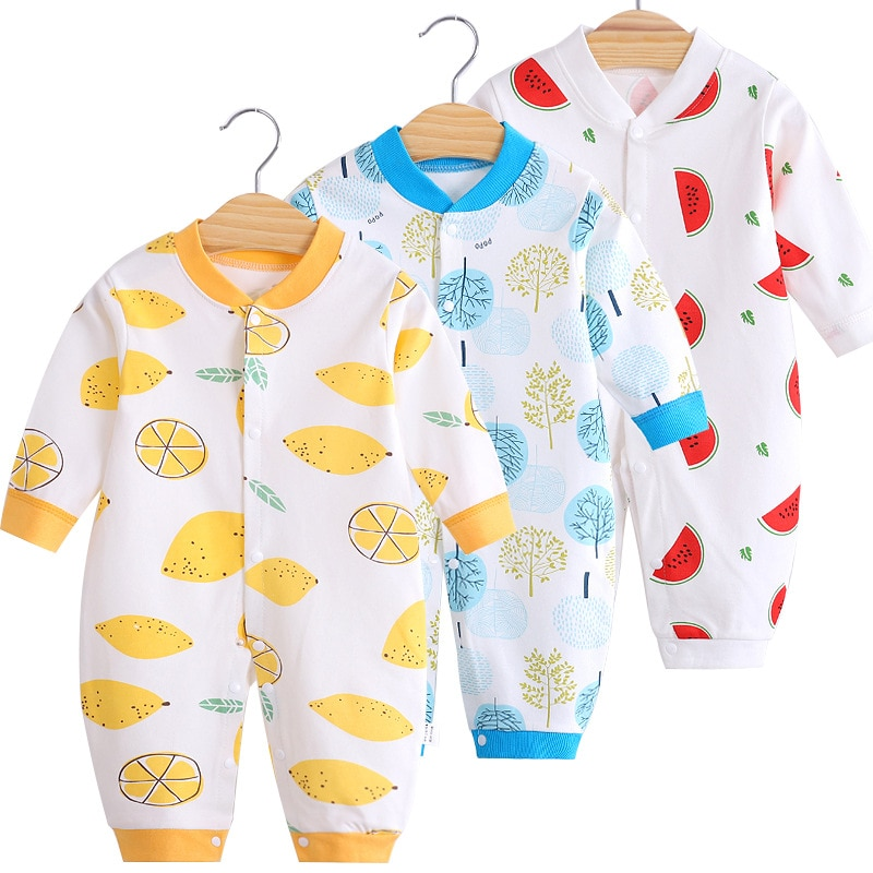 newborn jumpsuits tpure cotton long sleeve package ifantile clothes baby clothes climbing clothes spring autumn baby boy romper Cotton Baby Jumpsuit Baby Long Sleeve Toddler Romper Clothes Newborn Cute Romper Baby Home Clothes Baby Girl Spring Clothes