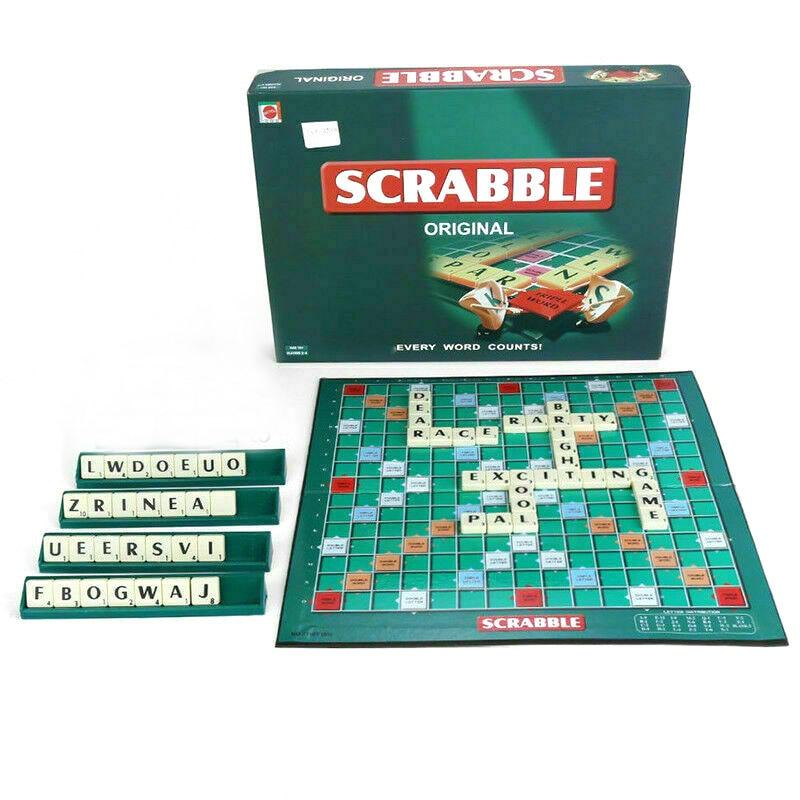 Portable Scrabble Games Kid Crossword Puzzles Children Board Spelling Table Jigsaw Words Teaching Aid Fun Educational Toys Fun speedy publishing llc crossword a day gotta love it crossword puzzles fun