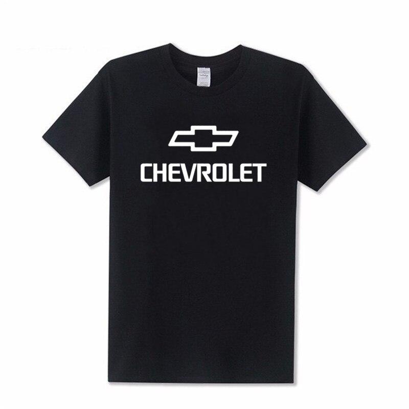 Homme imprimé t-shirts femme coton Chevrolet corvette T-shirt manches courtes couleur unie décontracté haute qualité XS-4XL