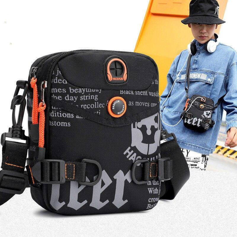 Повседневная маленькая сумка через плечо, мужские сумки-мессенджеры, водонепроницаемая нейлоновая Мужская поясная сумка для сотового теле...