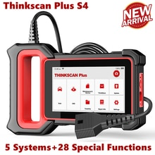 Диагностические инструменты THINKCAR Thinkscan Plus S4 OBD2, система TPMS Oil DPF ABS Reset ABS SRS ECM TCM BCM система EOBD OBDII, сканер двигателя