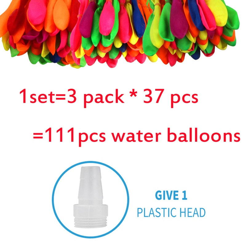 111pcs Water bomb balloons Amazing Filling Magic Balloon Children Water War Game Supplies Kids Summe