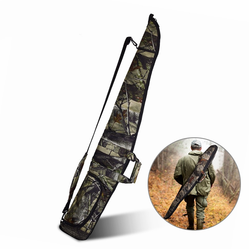 Funda de pistola de camuflaje táctica de 130cm, funda para Rifle Airsoft, funda para escopeta con relleno suave, bolsa de transporte para arma de caza militar al aire libre