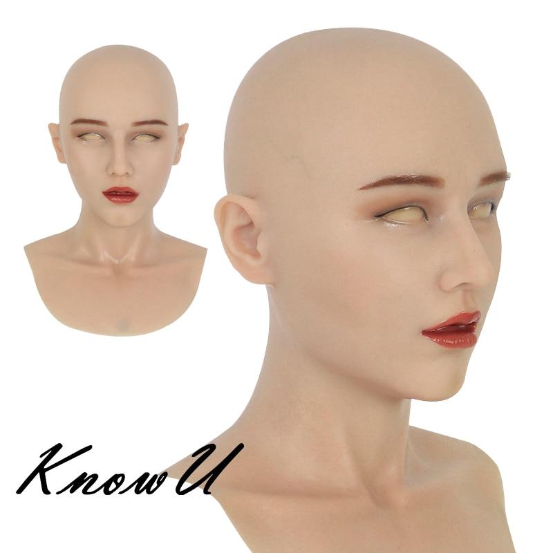 KnowU تأثيري سيليكون أغطية الرأس قناع الرأس الإناث دائم يشكلون المتحولين جنسيا