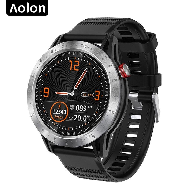 Reloj inteligente Aolon 2019, nuevo, cruzado, con 45 días de modo de reposo Larga, pantalla redonda, completamente táctil, resistente al agua IP68