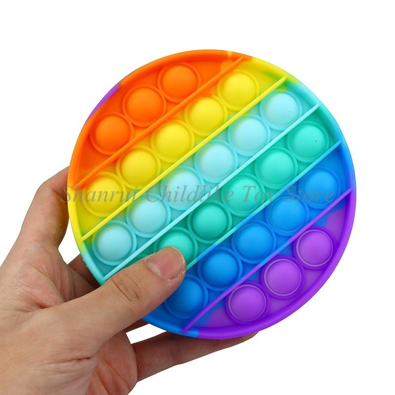 Fidget Toys Pop Bubble Sensory Decompression Toy Squeeze Stress Reliever Hand Children Educational Math Bubble Toys enlarge