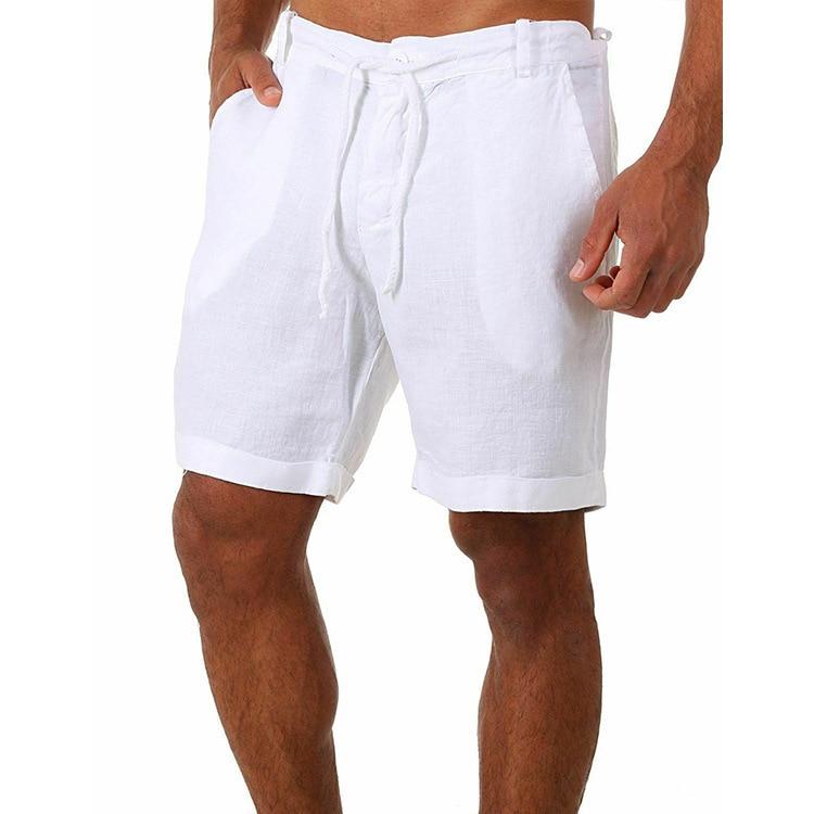 2021 летние мужские Однотонная одежда шнуровка спортивные мужские Шорты повседневные штаны шорты для спортивного зала, белые хлопковые шорт...