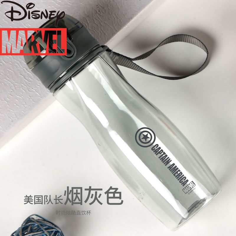 Disney Marvel Water Cup Outdoor Sports Portable Direct Drinking Plastic Leak-proof Male and Female Summer Students Water Bottle