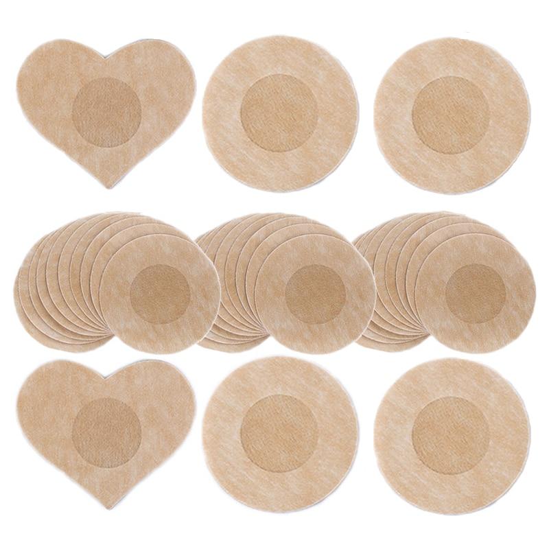 أغطية حلمات غطاء للحلمة النساء لاصق بتلات الثدي منصات المتاح الإناث ملصقات للحلمات على الصدر 10/50 قطعة