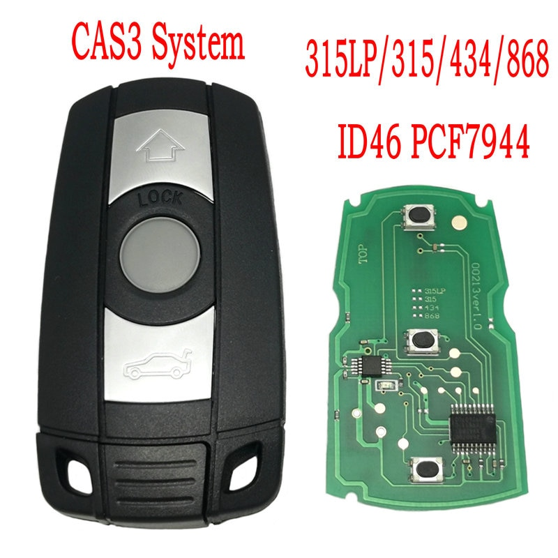 Datong World Car Remote Control Key For BMW CAS 3 System 1 3 5 Series ID46 PCF7944 Chip 315/434/868 Mhz Auto Smart Card Key