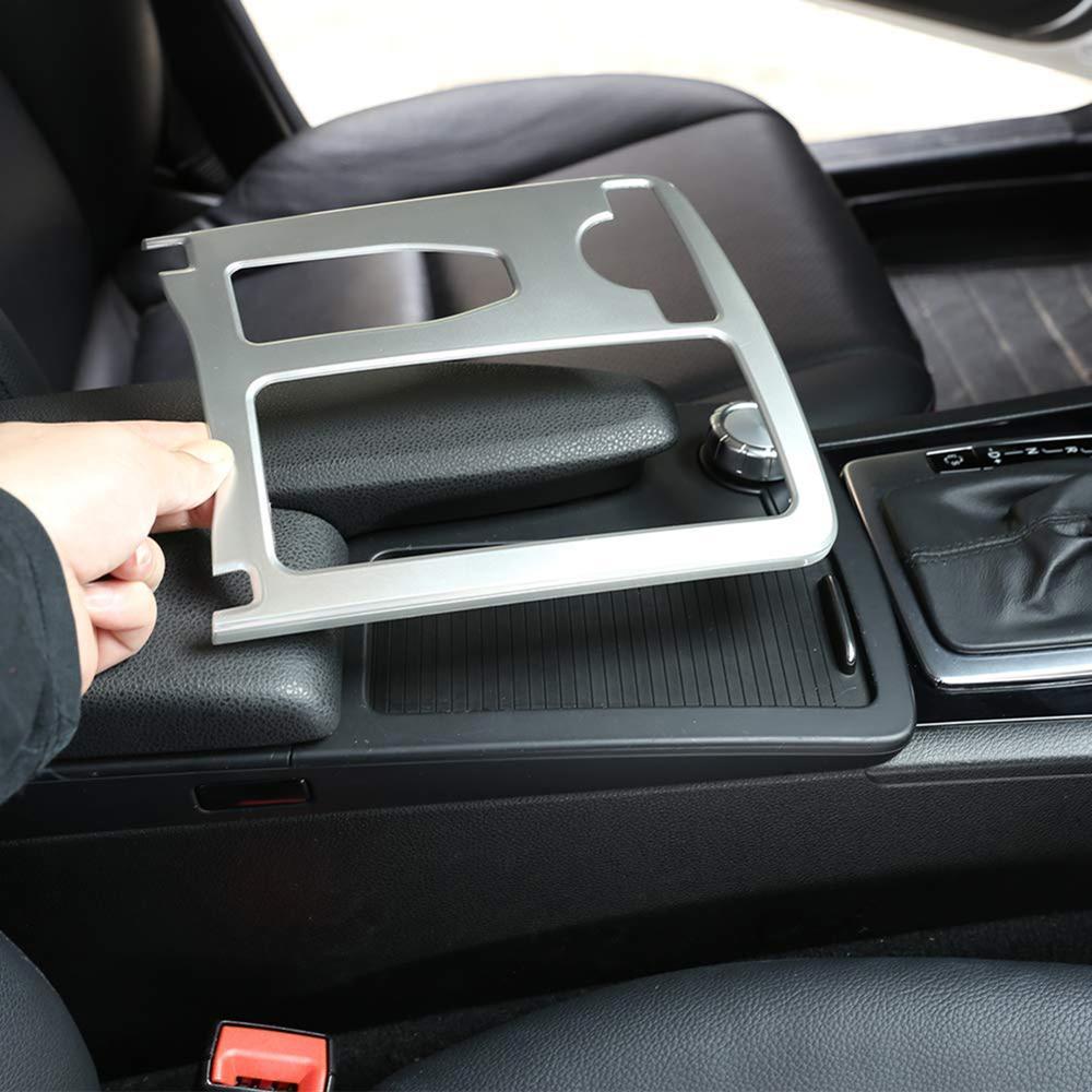 Diseño de coche de fibra de carbono Multimedia Centro Handrest shift Panel cubre para Mercedes Benz W204 W212 C clase E interior