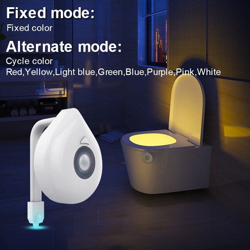 LED Toilet Seat Night Light Motion Sensor WC Light 8 Colors Changeable Lamp AAA Battery Powered Backlight for Toilet Bowl Child enlarge