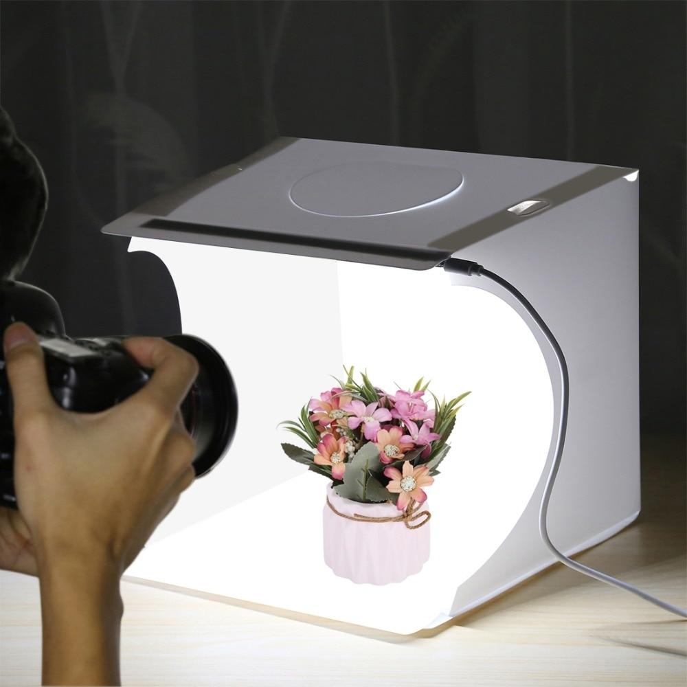 PULUZ 20cm Folding Portable 550LM Light Photo Lighting Studio Shooting Tent Box Kit with 6 Colors Backdrops