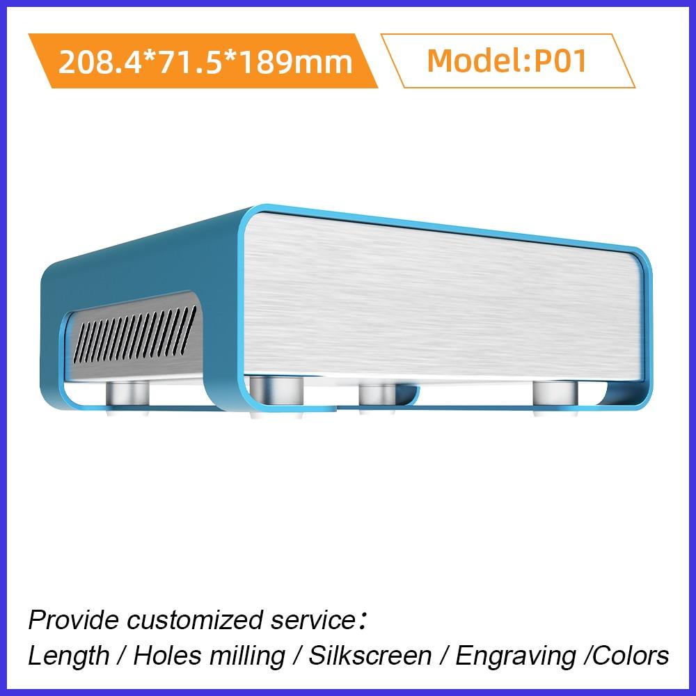 لوحة دوائر كهربائية الإسكان PC الضميمة الصفائح المعدنية الانحناء صندوق وصلات بأكسيد طحن والطباعة P01 133.4*55 مللي متر