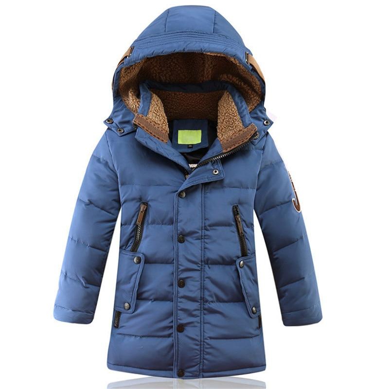 -30 درجة سترة شتوية روسية للأطفال ، معطف سميك دافئ ، ملابس خارجية للمراهقين ، الأولاد 8 10 12 14 16 سنة