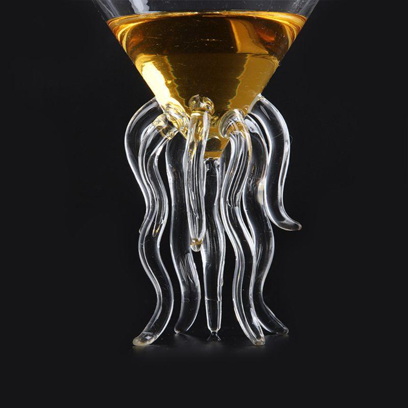 Pulpo de cóctel de vidrio transparente medusas vidrio taza de jugo de vidrio