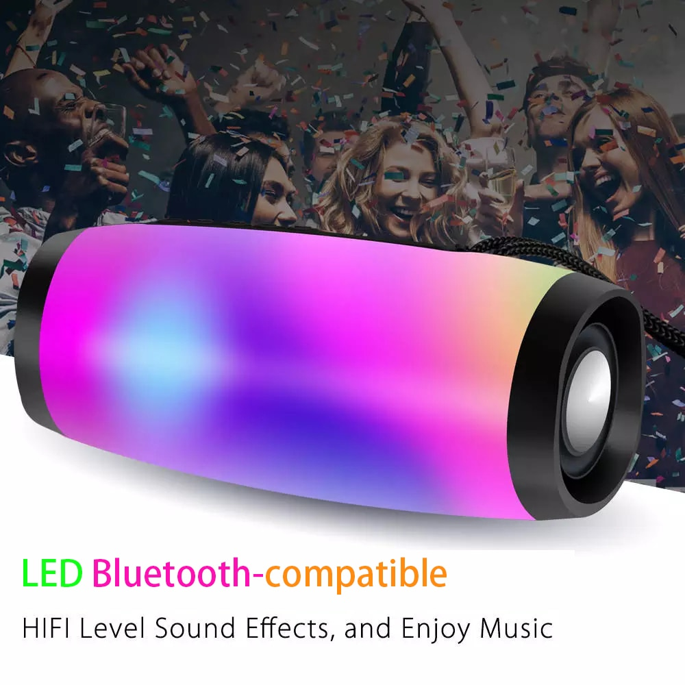 Altavoz portátil compatible con Bluetooth, columna de Bajo inalámbrico, altavoces USB impermeables...