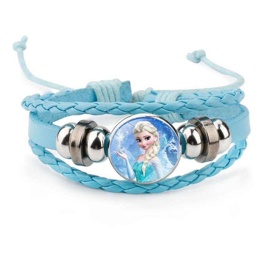 Pulsera de dibujos animados de princesa Frozen Elsa adorable regalo de Niña Accesorios de ropa brazalete de maquillaje joyería