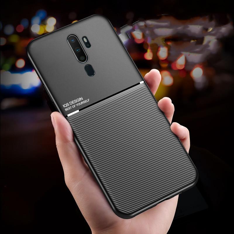 Für OPPO A9 2020 A5 2020 A11X Fall Magnetische Aufkleber Silikon Telefon Abdeckung Für OPPO Reno2 2Z 2F Ace Realme x2 Pro X2 XT Telefon Fall
