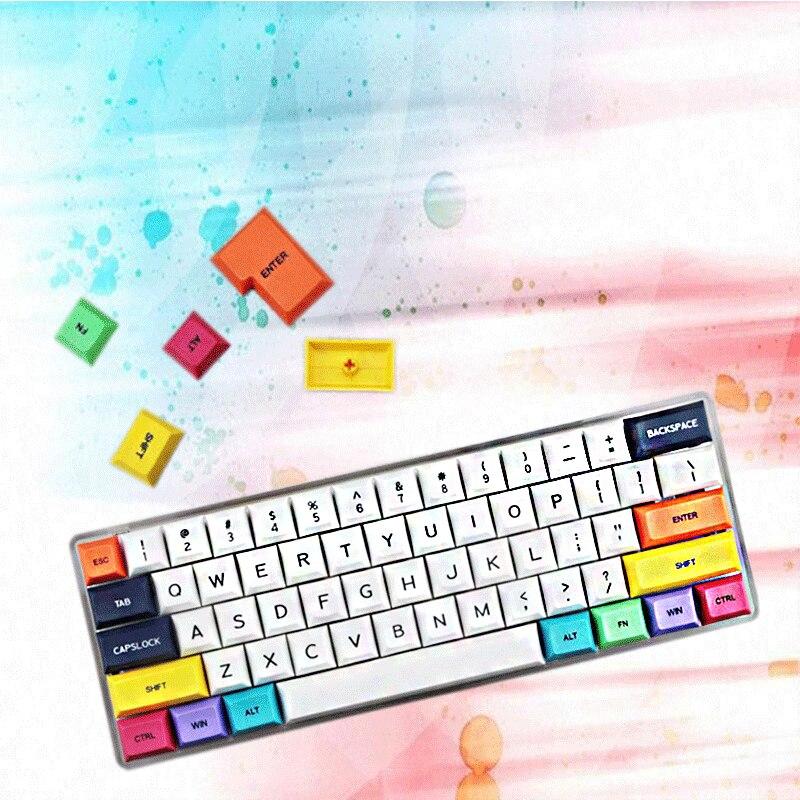61 مفتاح قبعات المفاتيح PBT XDA DSA متوافق مع 60 keycap 68 keycap 87 keycap 104 أغطية المفاتيح الميكانيكية