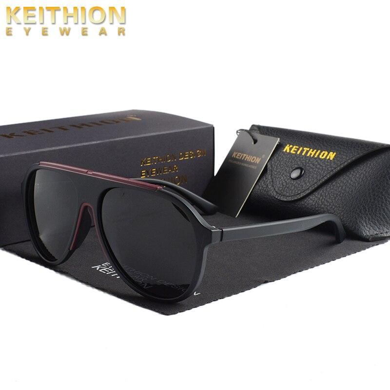 Keithion polarizado óculos de sol dos homens de alta qualidade moda marca designer vintage redondo óculos de sol para mulher óculos de sol