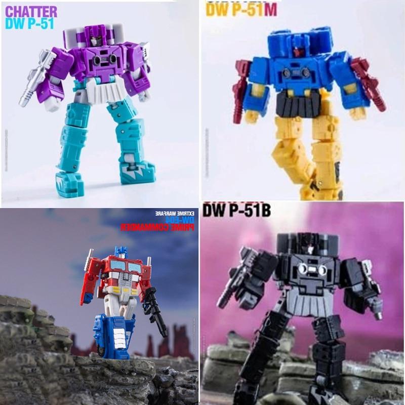 Transformation Dr.Wu & DW-P51 DW-P51M DW-P51B DW-E04 Galvatron Soundwave Blurr Legendary Mini PVC Action Figure Robot Toys