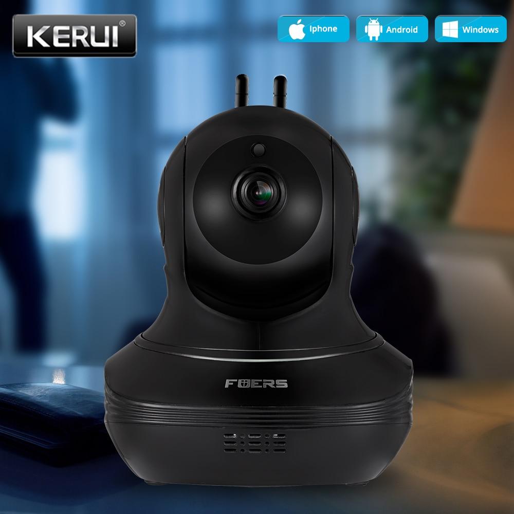 KERUI واي فاي كاميرا IP 720P الأمن المصغرة كاميرا لا سلكية كشف الحركة في الأماكن المغلقة نظام المراقبة