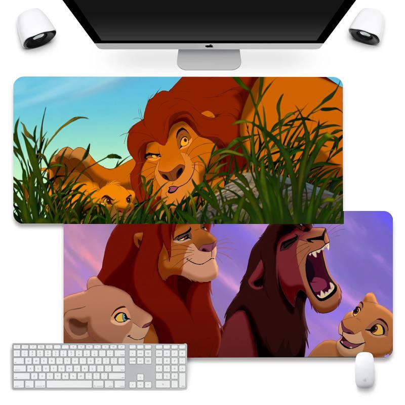 Компьютерный коврик для мыши и ноутбука Disney Mufasa на заказ, коврик для мыши, большой Настольный коврик для клавиатуры и ПК размером XL, противос...