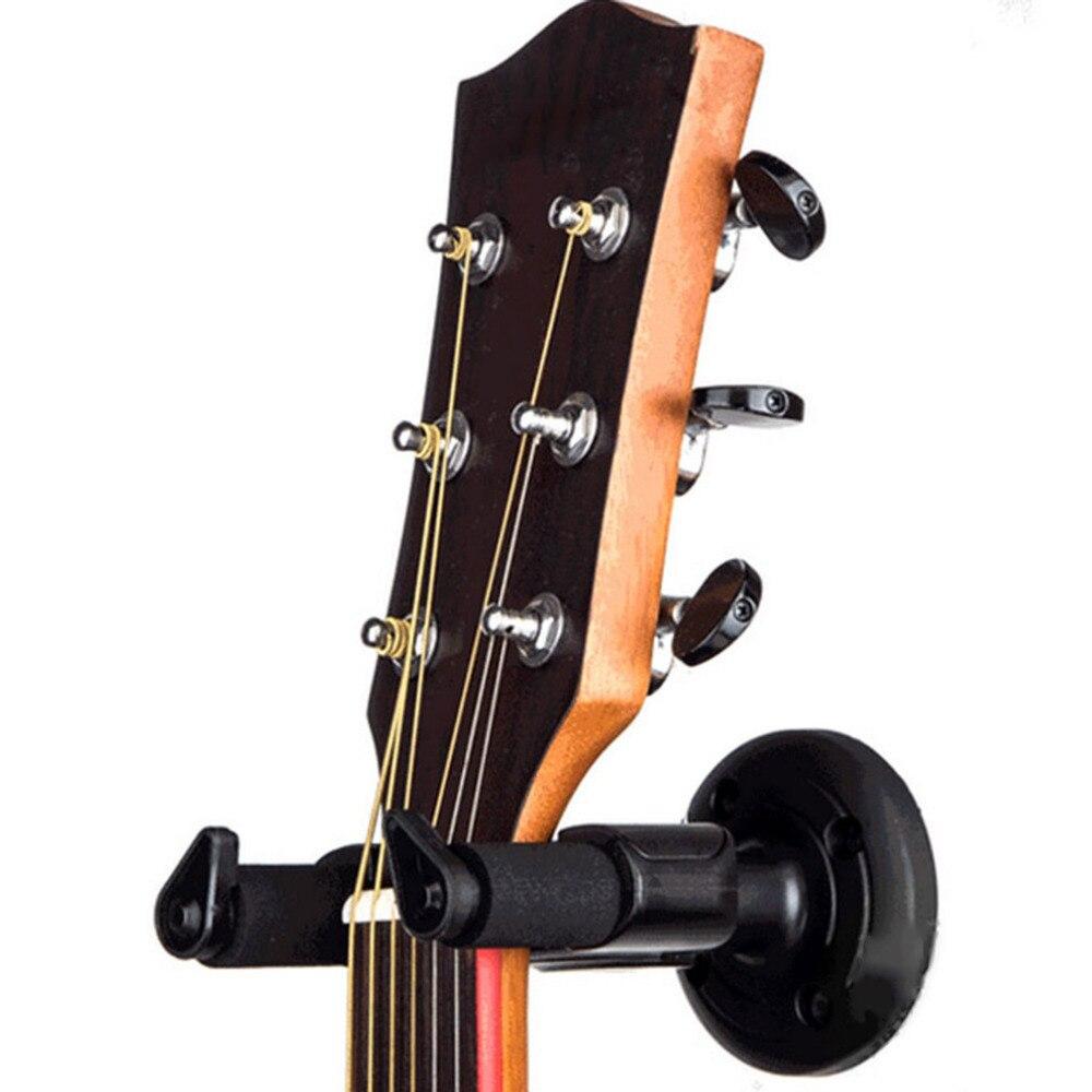 2018 útil guitarra elétrica suporte de gancho de parede rack montagem gancho para vários tamanho guitarra preta baixo accessorie