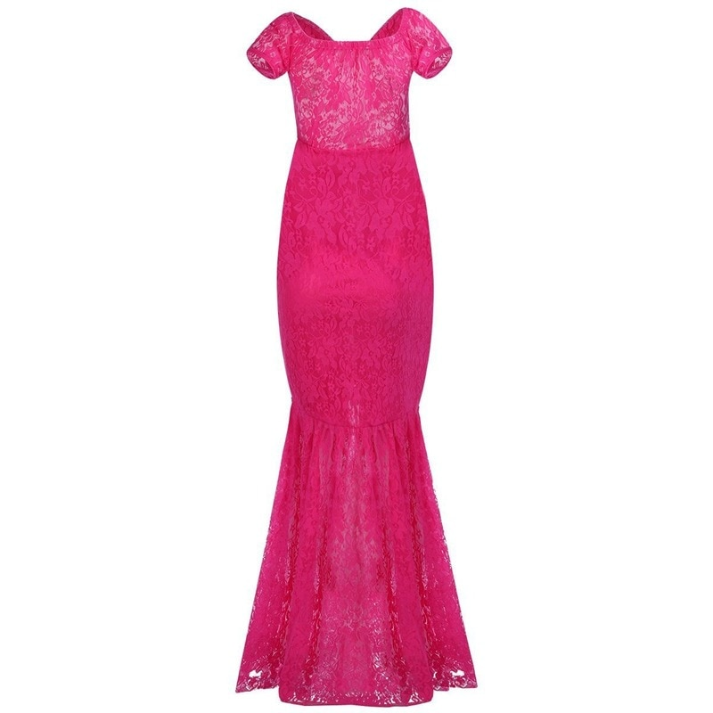 Maternity Photography Props Dresses Lace Mesh Long Pregnancy Dress for Pregnant Women Mermaid Maxi Gown Photo Shoots enlarge