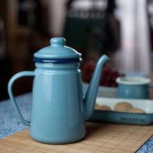 1000ml Enamel Teapot Vintage Loose Leaf Tea Coffee Tea Water Pot Kettle