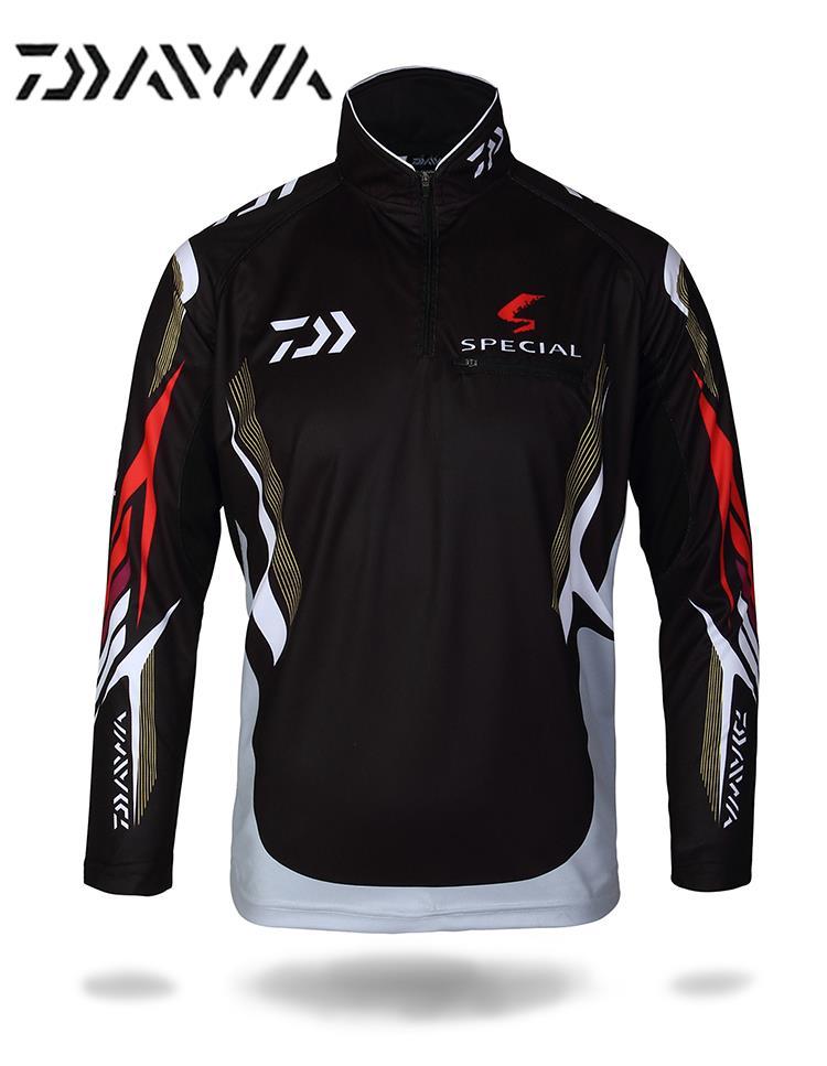 Daiwa Breathable Fishing Clothing Quick-Drying Anti-UV Sun Sports t shirt fishing Shirt Long Sleeve Camisas fishing clothes