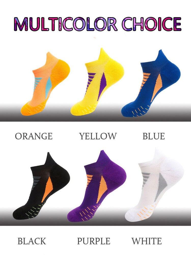 3 Pairs Of The Batch Spring And Summer Men And Women Professional Running Fitness Sports Socks Basketball Socks Short Boat Socks