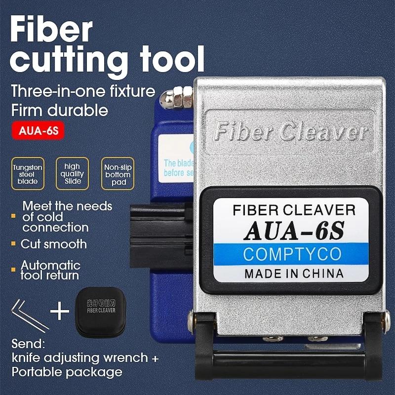 Высокоточный оптический волоконный Тесак AUA-6S для разделки кабеля Ножи FTTT волоконно-оптический Ножи инструмент резак ножи 16 поверхности ле...