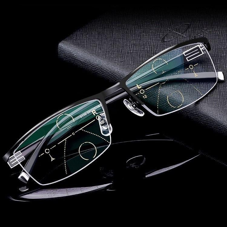 New Mens Comprehensive Myopia Correction Presbyopia Multifocal Glasses High Quality
