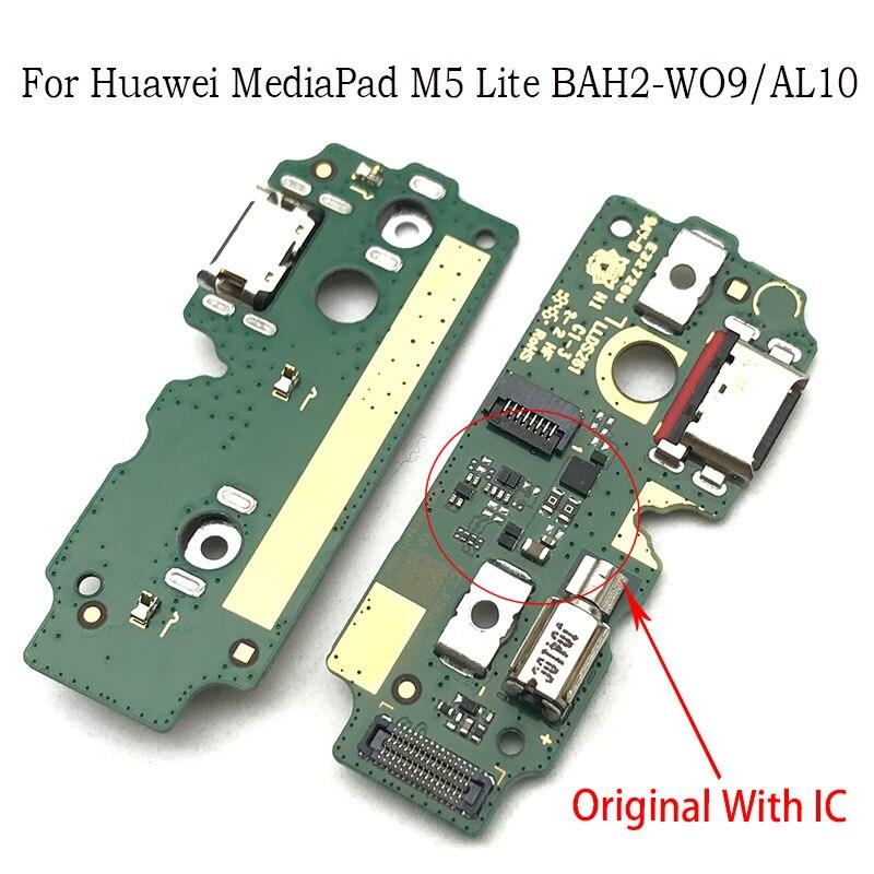 Ladegerät Bord PCB Flex Für Huawei Mediapad M5 lite BAH2-W09/AL10 USB Port Dock Lade Band Kabel