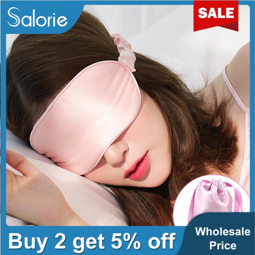 Offre Spéciale masque de sommeil doux masque pour les yeux de sommeil naturel masque pour les yeux ombre Patch pour les yeux doux Portable 100% 3D soie masque de soin des yeux