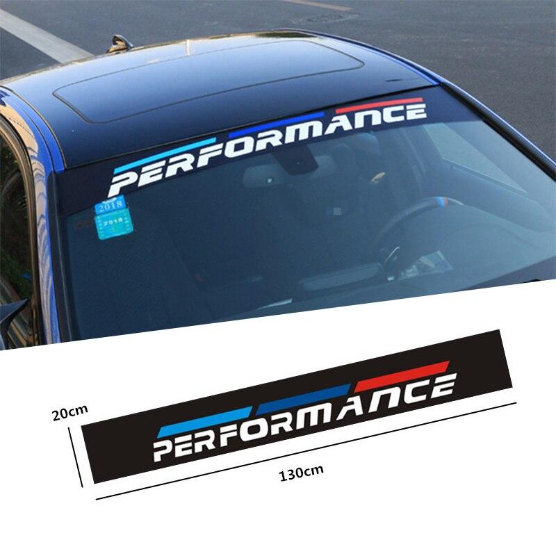 Estilo de coche para BMW M Emble E46 E39 E90 E91 E60 E36 E92 E30 E34 E70 E87 M2 3 frente del coche parabrisas trasero adhesivo Auto Accesorios