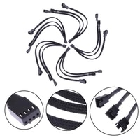 Cable 4pin To 3 X 4pin 3pin Pwm Extender Cable 4pin To 3 Ways Y Splitter Cable Dropshipping Cooling Fan Accessories Connector