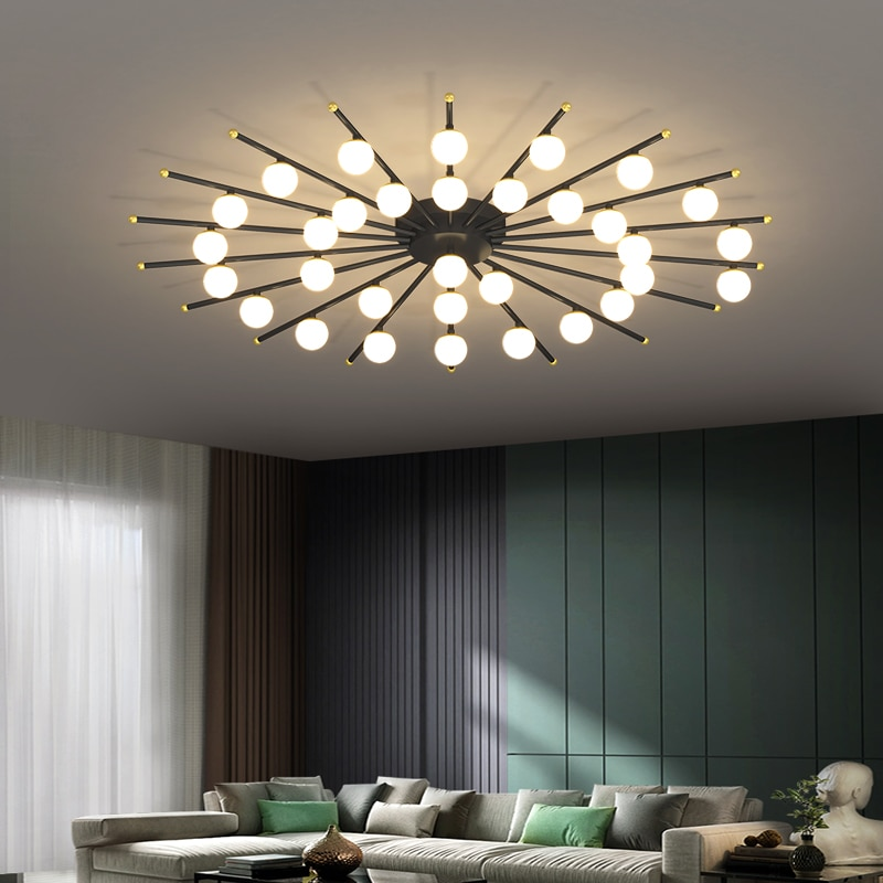 الجدة تنس طاولة شكل ثريا تركب بالسقف الإضاءة LED إضاءة داخلية غرفة المعيشة الحديثة المنزل أضواء الديكور