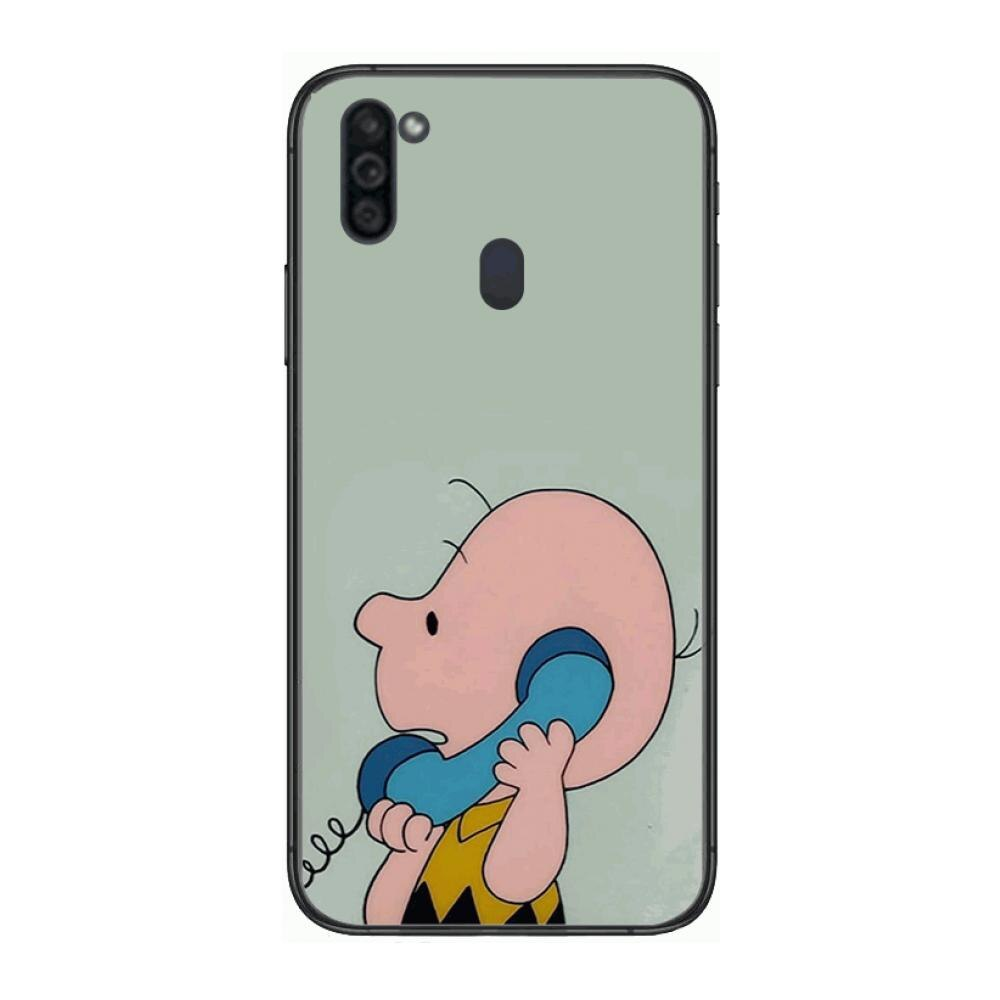Cartoons boy dog Mobile Phone Case Hull For Samsung Galaxy M 10 20 21 31 30 60S 31S Black Shell Art Cell Cover TPU  - buy with discount